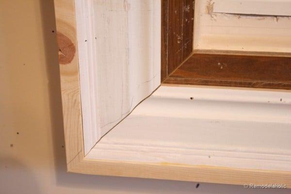 remodelaholic build a large wall frame for a chalkboard or mirror. Black Bedroom Furniture Sets. Home Design Ideas
