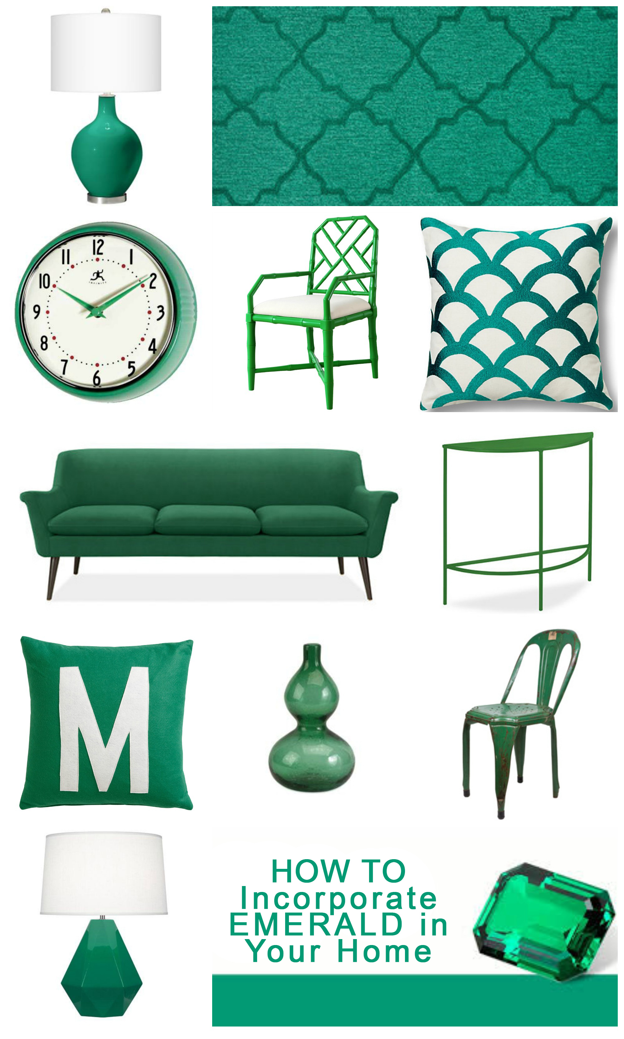 How to Incorporate Emerald in Your Home Decor