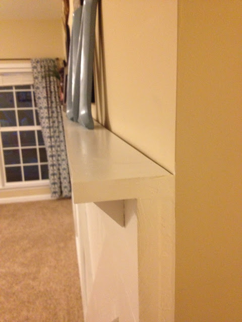 install a wall ledge on an uneven wall with barn door wainscoting