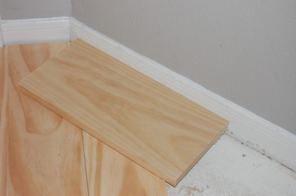 measuring angle for wooden tread stair remodel