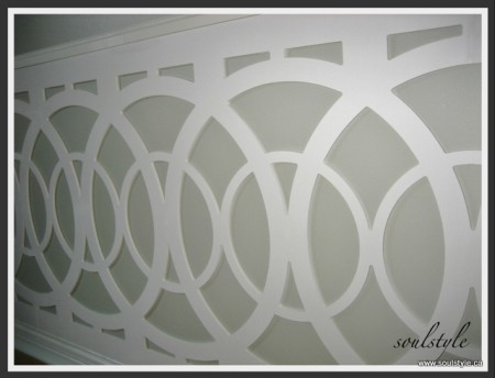 metropolis circles non-traditional wainscoting, Soul Style on Remodelaholic