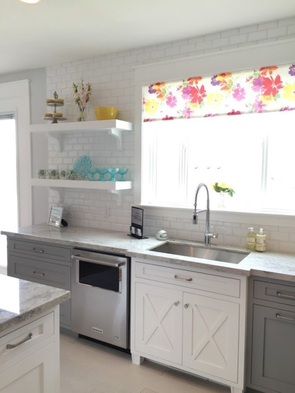 Modern Farmhouse Grey And White Kitchen, Arive Homes Featured On Remodelaholic