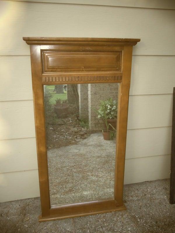 mudroom bench thrift store mirror