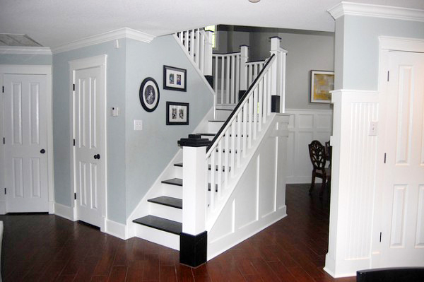 Painted Wood Stair Remodel