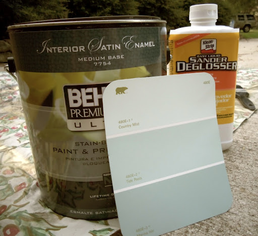 painting mudroom bench