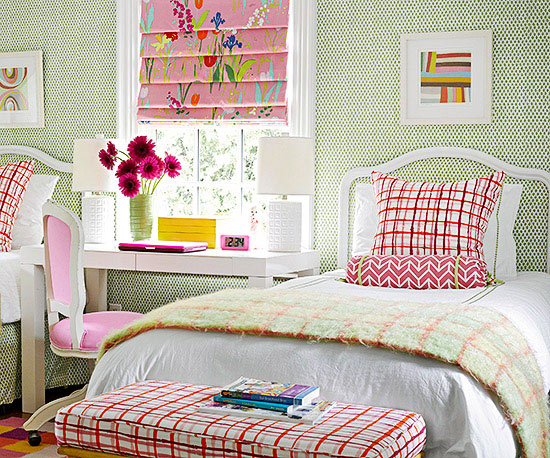 Pattern Mixing For Kids Rooms Better Homes And Gardens