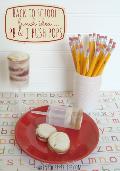 school lunch idea - pb&j push pops, Shaken Together Life