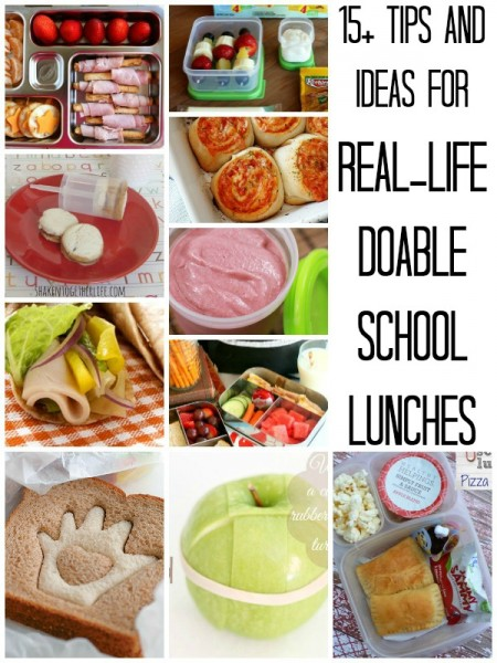 15+ Ideas and Tips for Real-Life Doable School Lunches | Remodelaholic.com #schoollunch #backtoschool #healthy @Remodelaholic