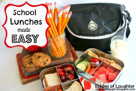school lunch tip - planning and packing school lunches, Echoes of Laughter