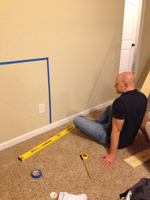 sketching and planning barn door wainscoting wall treatment