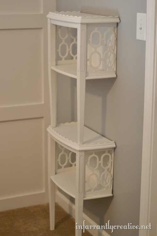 stacked end table shelf, Infarrantly Creative