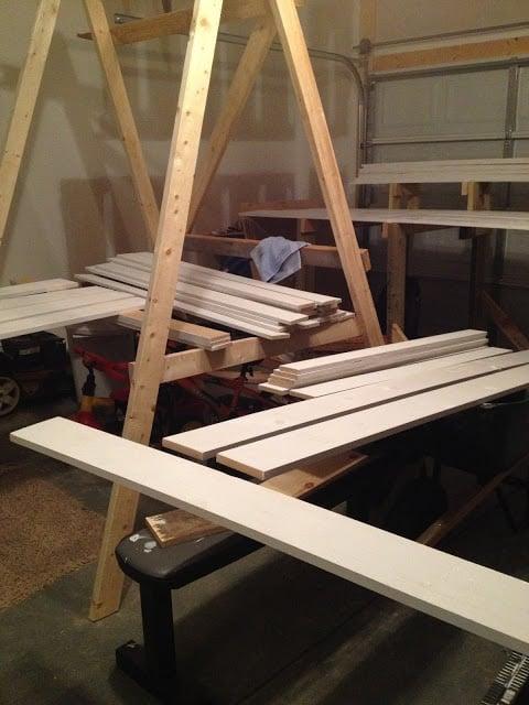 supplies for barn door wainscoting