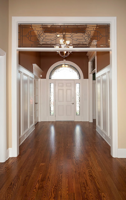tall wainscoting in a tall entry, Design Dump on Remodelaholic