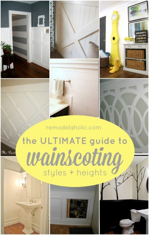 The Ultimate Guide to Wainscoting - which style, height, and method is right for you @Remodelaholic