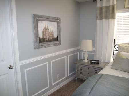 update master bedroom with  Wainscoting Bedroom