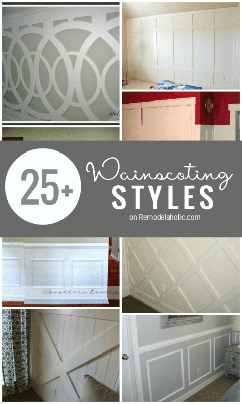 The Ultimate Guide to Wainscoting: 25+ wainscoting ideas and styles | Remodelaholic.com #wainscoting #inspiration #design #walls @Remodelaholic