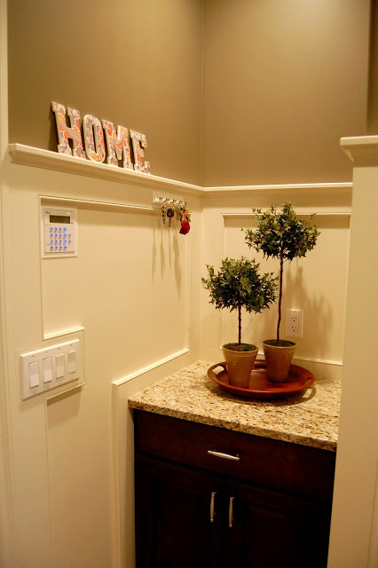 Lovely How To Decorate A Half Wall Ledge Images - Wall Art Design ...