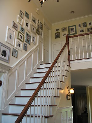 wainscoting on the stairs and hallway, Sawdust Girl on Remodelaholic