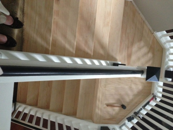 wooden stair remodel