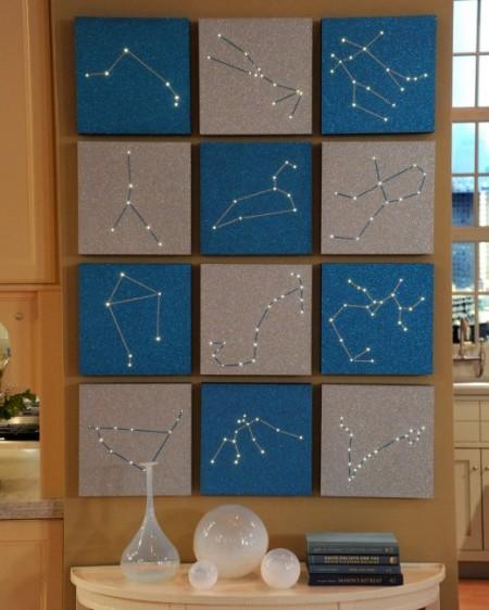 zodiac constellation wall art, Martha Stewart