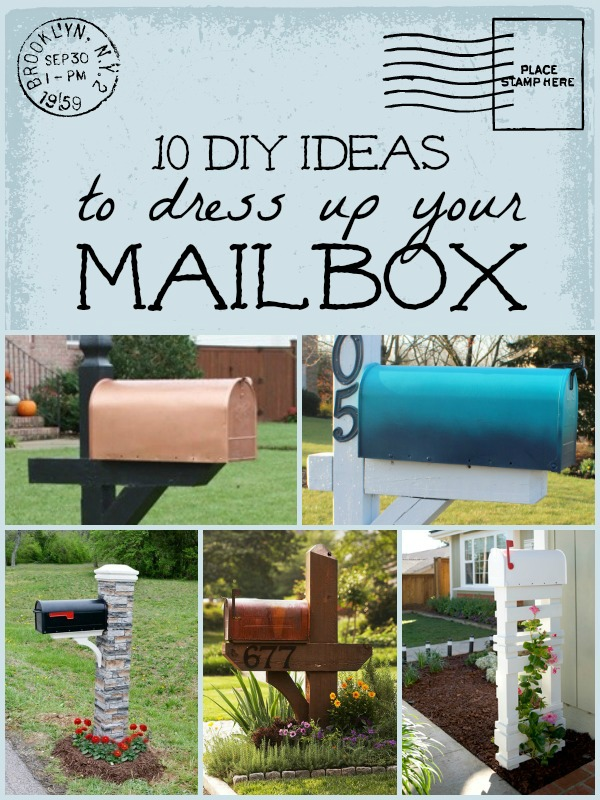 10 DIY Mailbox Ideas for A Happy Mailbox | Remodelaholic.com #diy #mailbox #curbappeal @Remodelaholic