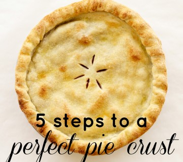 5 Steps to a Perfect Pie Crust from Tipsaholic.com