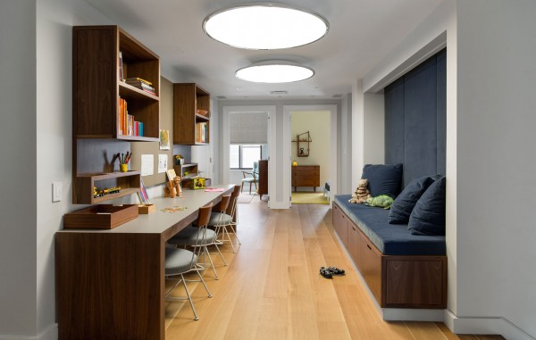 Tips for Designing Kids' Spaces | Corridor Playroom on Remodelaholic.com