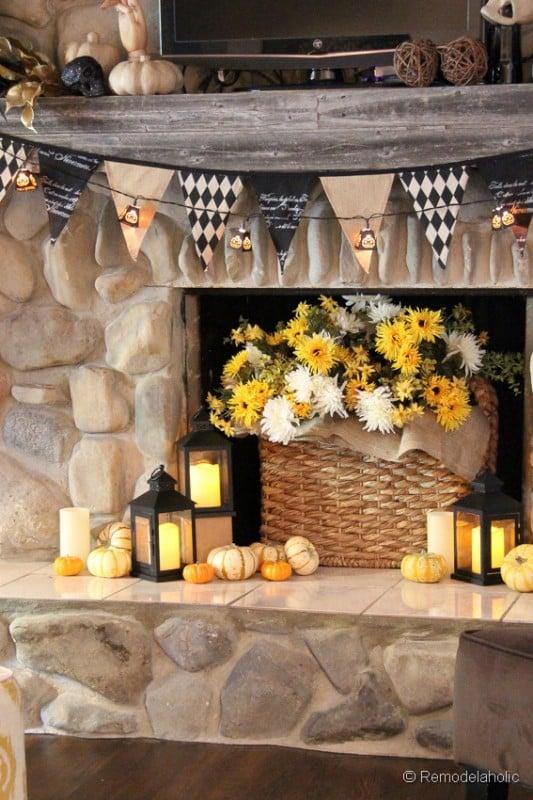 Fall-mantel-and halloween-mantel-decor-ideas-5