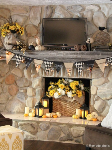 Fall-mantel-and halloween-mantel-decor-ideas-6