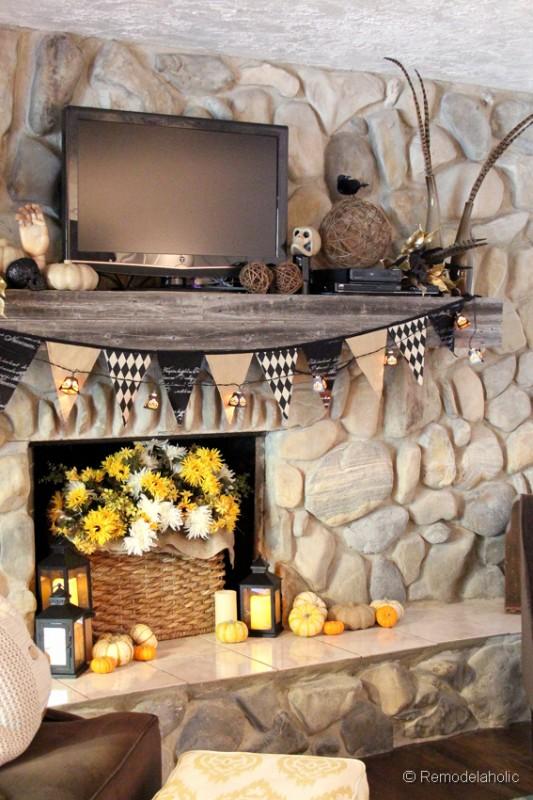 Fall-mantel-and halloween-mantel-decor-ideas-7