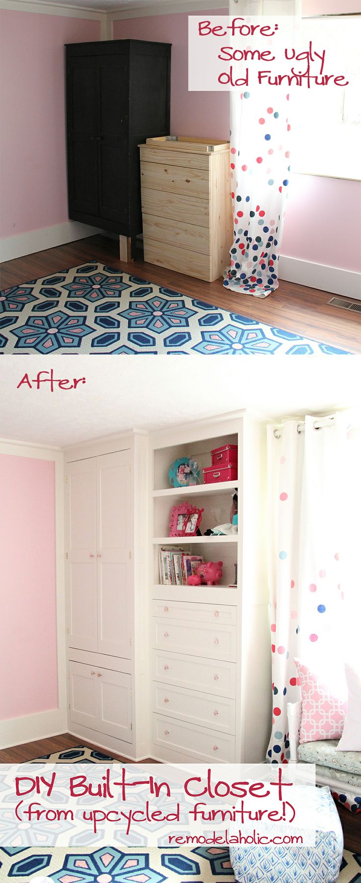 Old Ikea Products remodelaholic | built-in closet hack