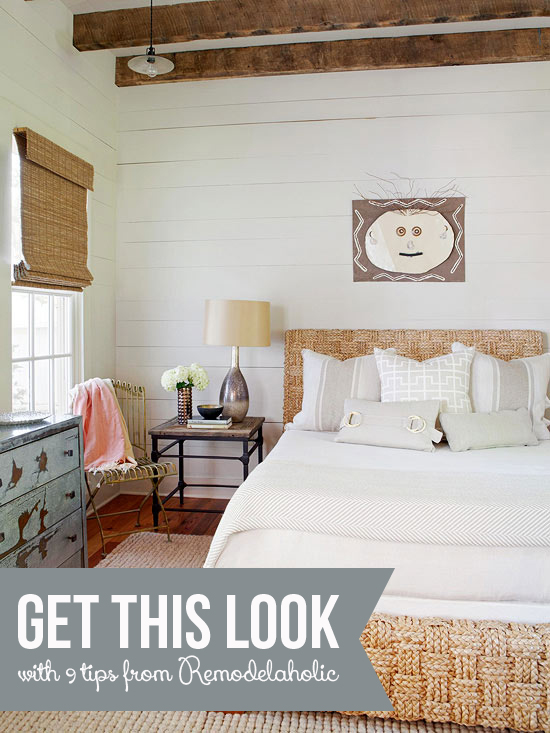 Simple Bedroom Remodel get this look: neutral rustic bedroom | remodelaholic