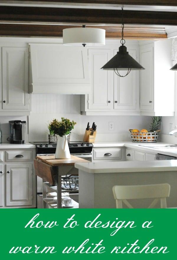 How To Design A Warm White Kitchen via Tipsaholic.com