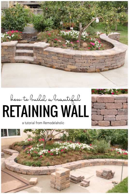 How To Build A Beautiful Retaining Wall, A Tutorial From Remodelaholic