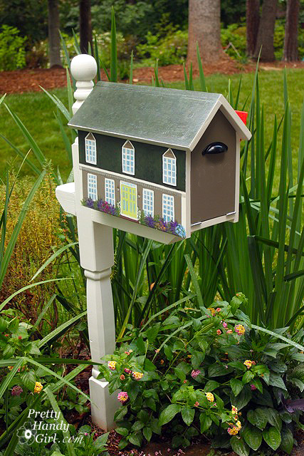 Painted House Mailbox | Pretty Handy Girl