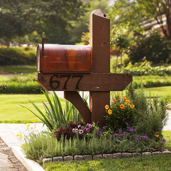 Mailbox Design Ideas modern mailbox design ideas stainless steel minimalist designs Diy Mailbox Flower Garden Bhg