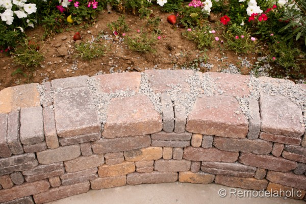 DIY retaining wall by Remodelaholic