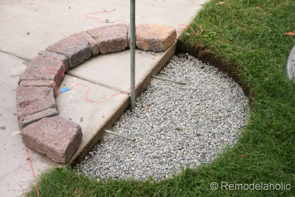 Diy Seat Wall And Fire Pit Kit 31