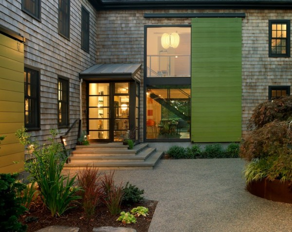 exterior window treatment - two story barn door shutter, Northeast Collaborative Architects