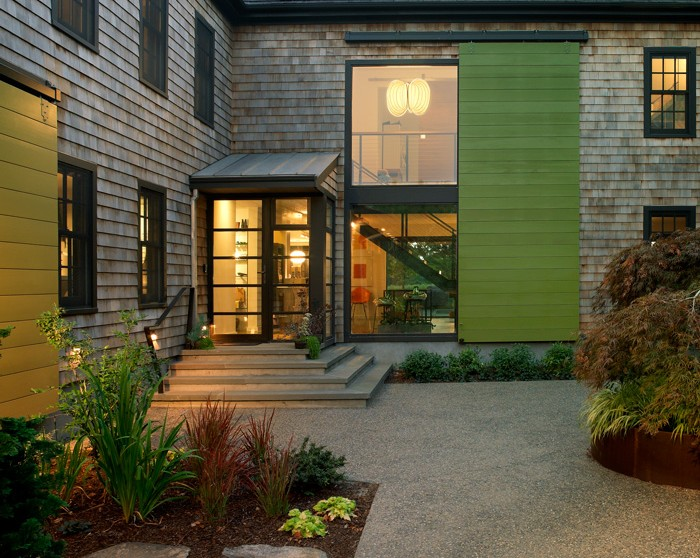Exterior Window Treatment Two Story Barn Door Shutter Northeast Collaborative Architects