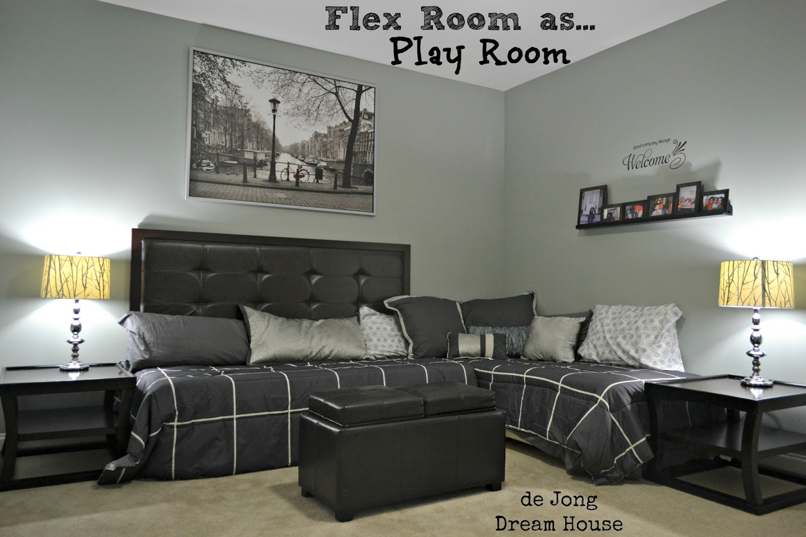 3 in 1 flex room guest suite play room room for two for Teenage playroom design ideas