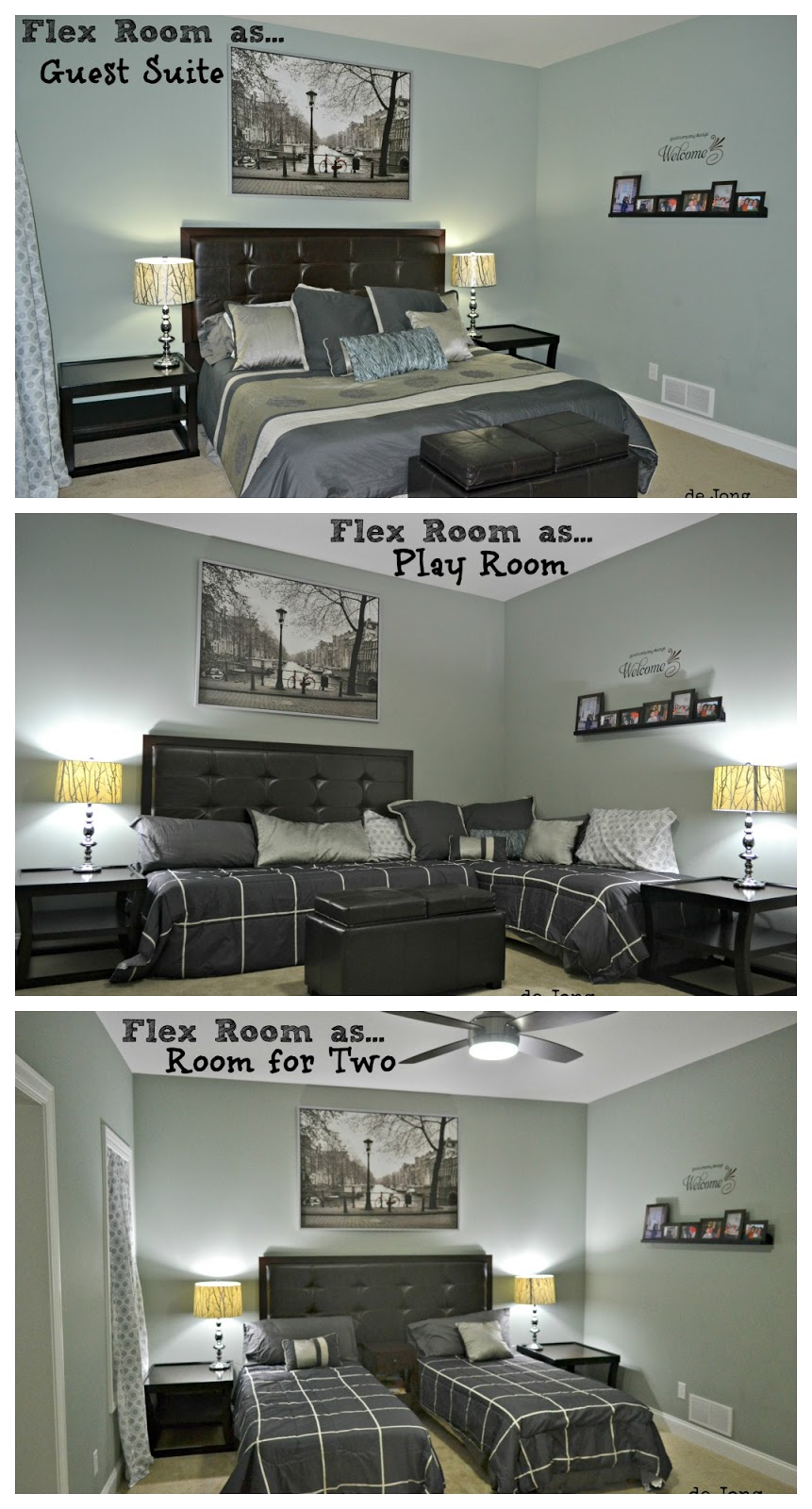 3 in 1 flex room guest suite play room room for two remodelaholic - The flex house ...