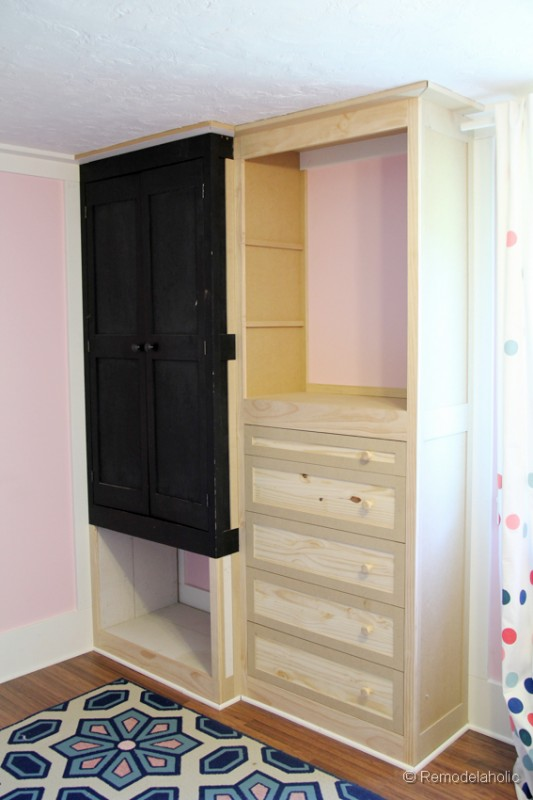 How To Build A Built In Closet, Built Ins From Existing Furniture Upcycl ...