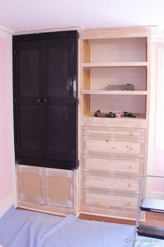 ... How To Build A Built In Closet, Built Ins From Existing Furniture  Upcycle