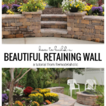 How To Build A Retaining Wall For Your Backyard, A Tutorial From Remodelaholic