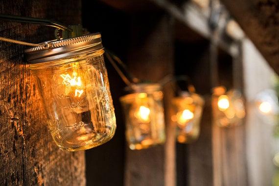 5 Ways to Turn Your Mason Jars Into Lights