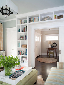 living room built-ins via Remodelaholic.com