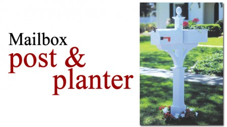 mailbox post and planter