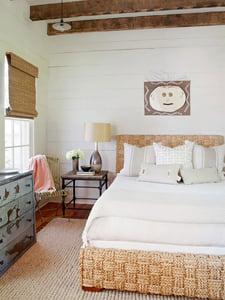 neutral rustic bedroom
