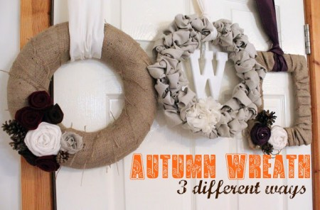 party feature - autumn wreath 3 ways, Incomplete Guide to Living